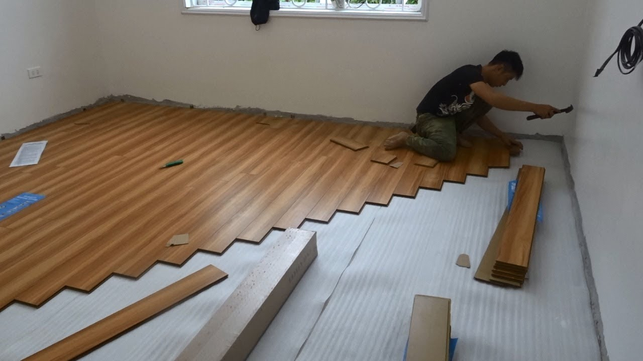 Excellent Building Bedroom Floor With Wood & How To Install Wooden Floors  Step By Step - YouTube