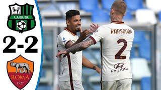 Сассуоло Рома 2 2 Обзор Матча Чемпионата Италии 03 04 2021 HD