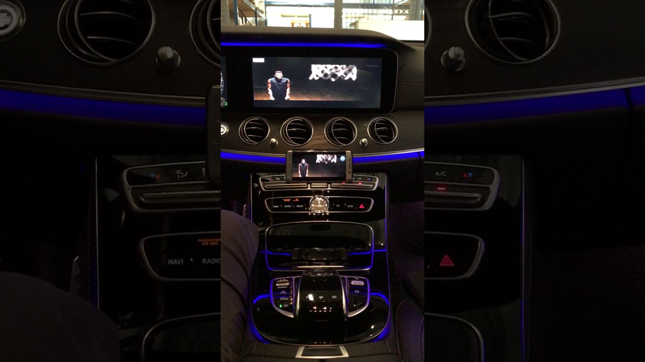 Mercedes E-class W213 with aftermarket Mirrorlink V2 by NavInc