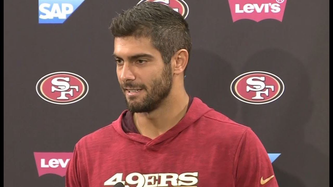 sale retailer bf696 c6cd0 JIMMY G: 49ers quarterback Jimmy Garoppolo takes about training camp  struggles