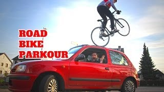 Road Bike Parkour - Max Schrom(Welcome to Road Bike Parkour! The two times world record holder, bikeshow & stuntrider Max Schrom take you on his journey to do some road bike stunts!, 2014-05-23T12:00:04.000Z)