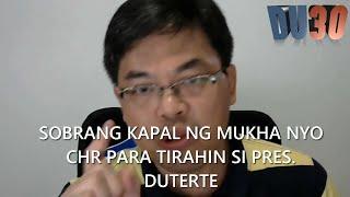 Raffy Gutierrez to CHR  Kakapal ng mukha nyo para siraan si Duterte June 13,2016