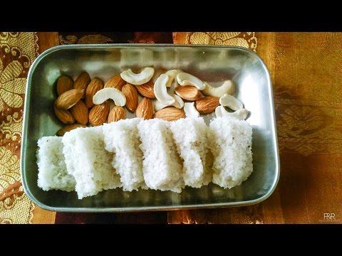 ಕೊಬ್ಬರಿ ಮಿಠಾಯಿ Coconut Burfi Video Recipe in Kannada