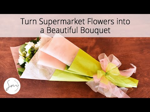 How to gift wrap fresh flowers into a beautiful bouquet youtube how to gift wrap fresh flowers into a beautiful bouquet paper guru mightylinksfo