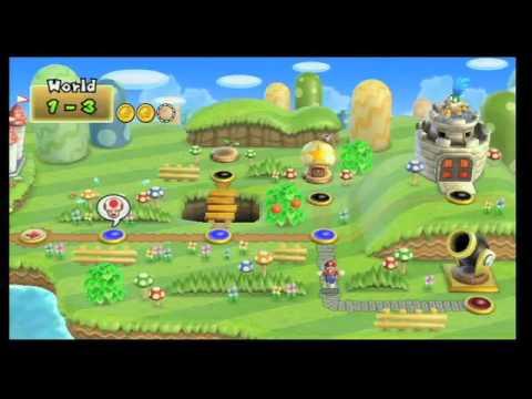 Wikicheats New Super Mario Bros Wii Warp Cannons Walkthrough
