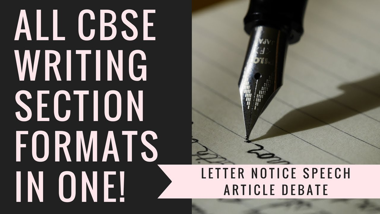 All Cbse Writing Section Formats In One Letter Notice Article