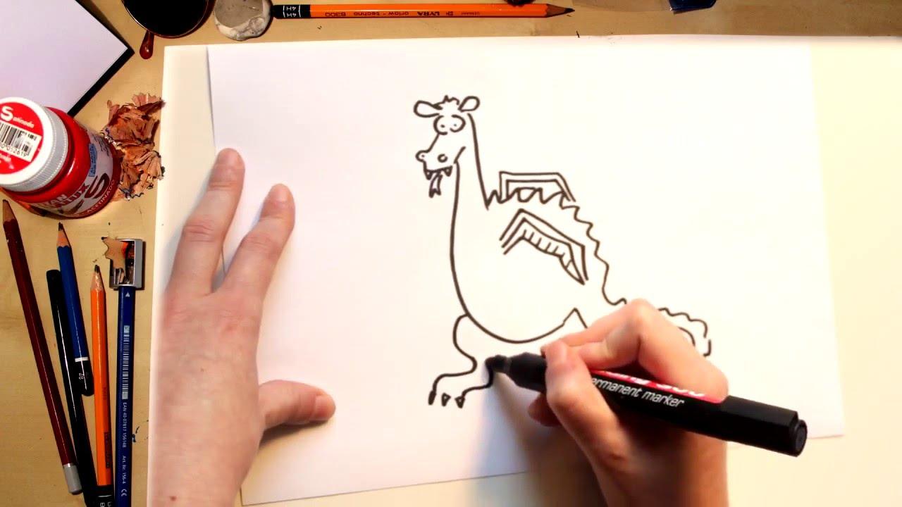 Como Dibujar El Dragón De Sant Jordi Dibujos Para Niños