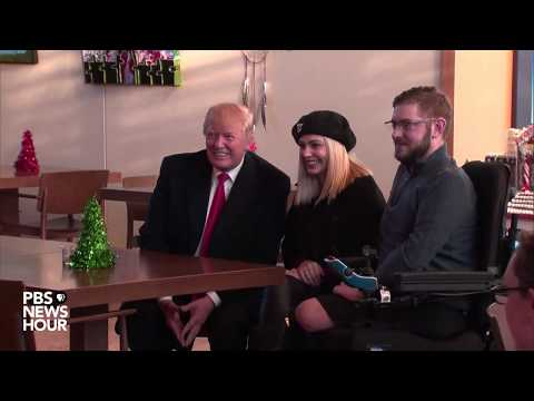 WATCH: President Trump makes visit to Walter Reed Medical Center