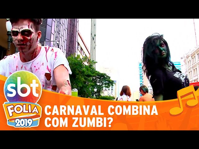 Carnaval combina com zumbi? | SBT Folia 2019