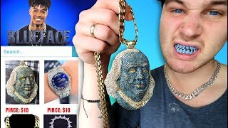 I Bought THE CHEAPEST BlueFace Rapper Chains And Merch!!