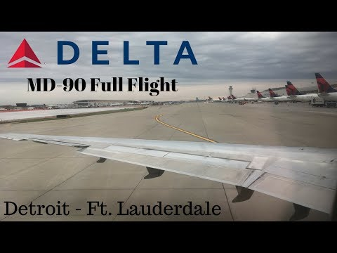 Delta MD-90 Full Flight | Detroit - Ft. Lauderdale