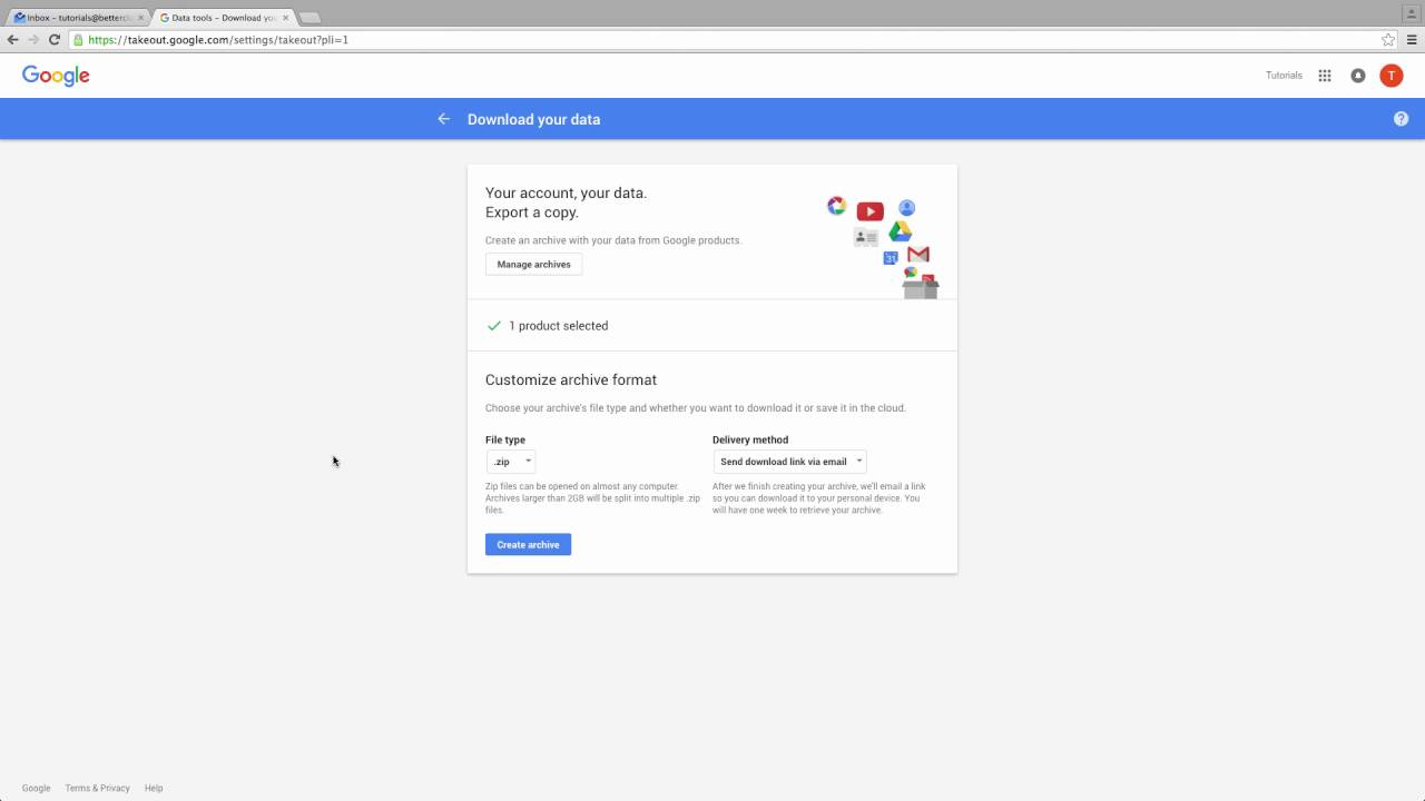 download all of your emails from gmail youtube
