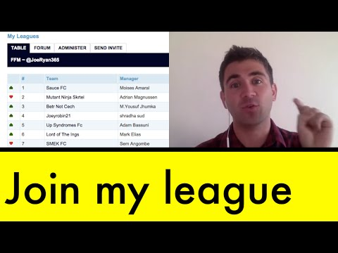 Come join my FPL league ~ Fantasy Football Manager #20
