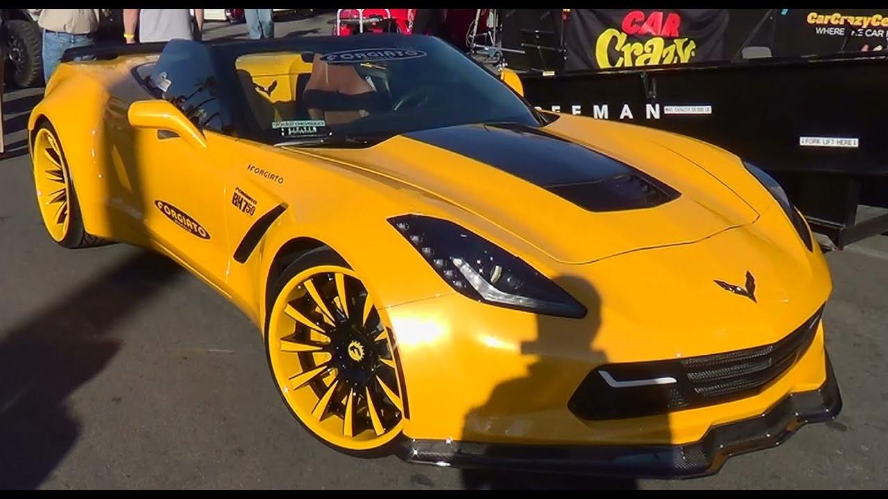 2014 Corvette Wide Body SEMA 2014 - YouTube