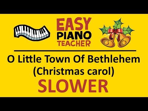 🎹 EASY piano: O Little Town Of Bethlehem keyboard tutorial SLOW (Christmas carol) by #EPT thumbnail