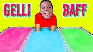 Bad Baby DIY Lego Gelli Baff CHALLENGE! Shasha and Shiloh Slime Bath Challenge - Onyx Kids