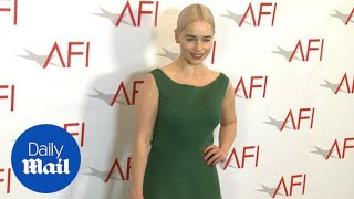 Stunning Emilia Clarke arrives at the AFI Awards Luncheon - Daily Mail