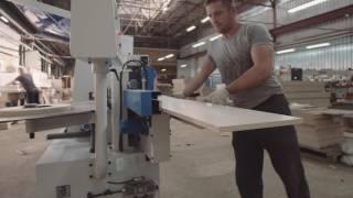 видео Автоматический кромкооблицовочный станок KDT 365J