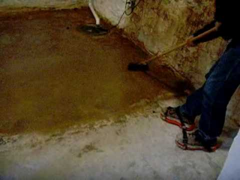 How To Apply A Color Stain To A Concrete Basement Floor Using  Www.SealGreen.com 800 997 3873