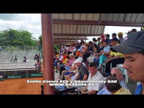 Copa Davis Emilio Gómez ECU ganó a Adam Hornby BAR