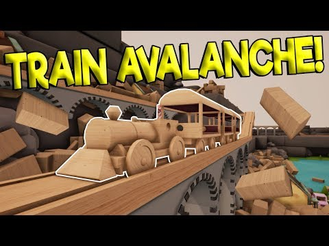 TOY TRAIN CRASHES CAUSING GIANT AVALANCHE! - Tracks - The Train Set Game Gameplay - Toy Trains