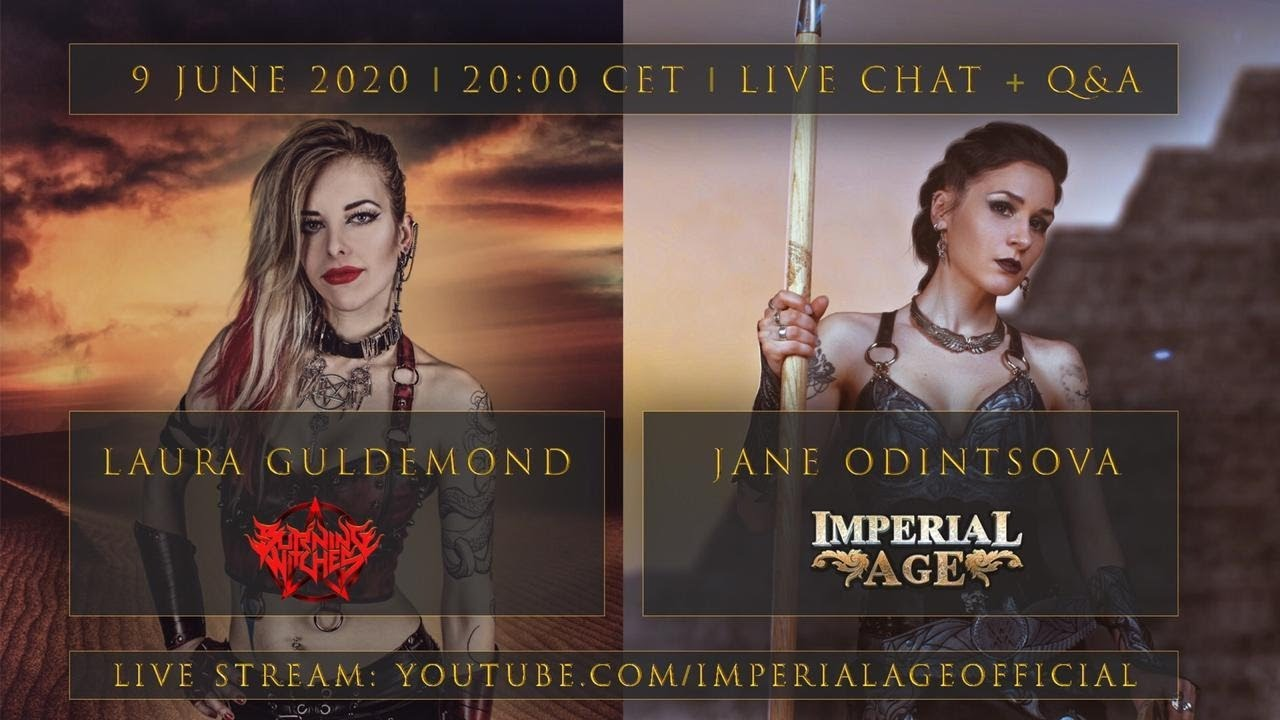 Jane Odintsova [IMPERIAL AGE] & Laura Guldemond [BURNING WITCHES] - live chat with Q&A