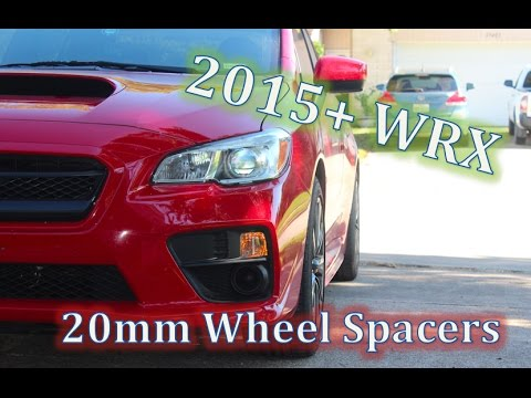 2015 Wrx Sti 40 20mm Wheel Spacer Install Youtube