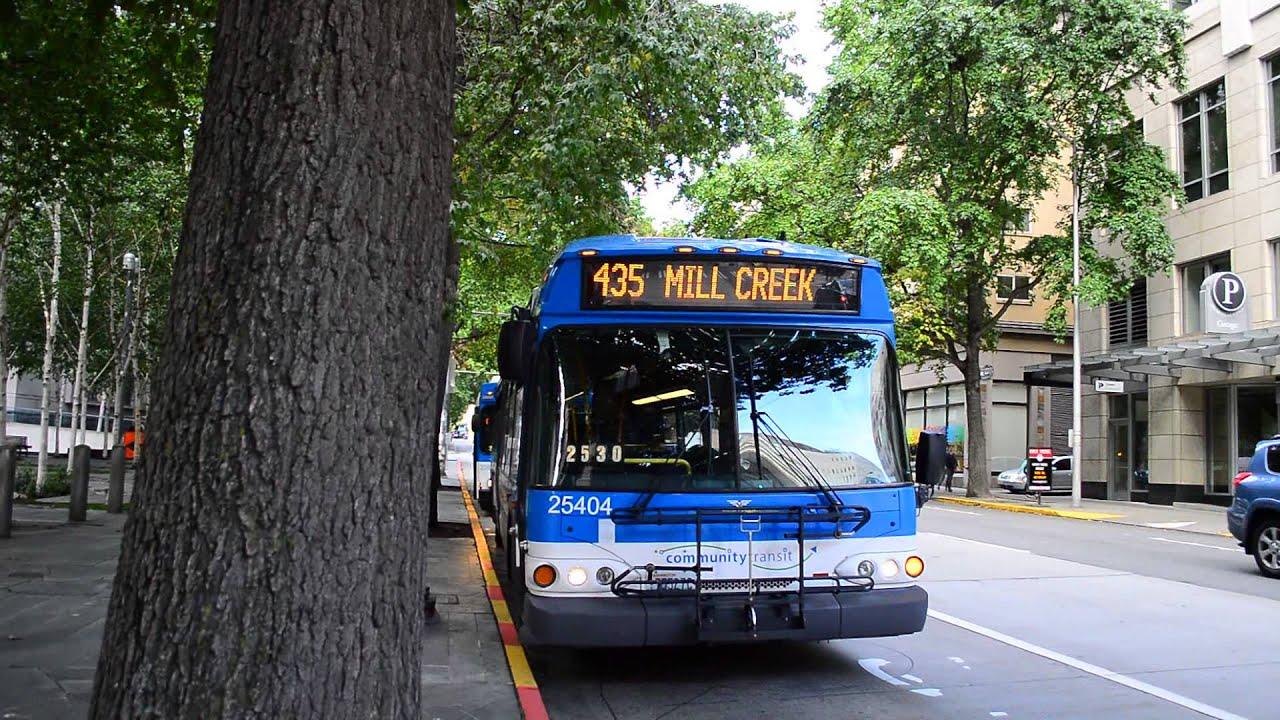 "community transit 2005 new flyer d40i ""invero"" 25404 on the 435"