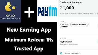 Galo App|| Galo app live paytment proof || new earning app today || PaytmEarningsTamil