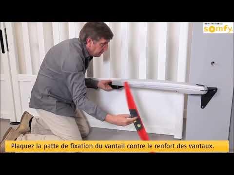 installation moteur portail battant somfy exavia par www. Black Bedroom Furniture Sets. Home Design Ideas