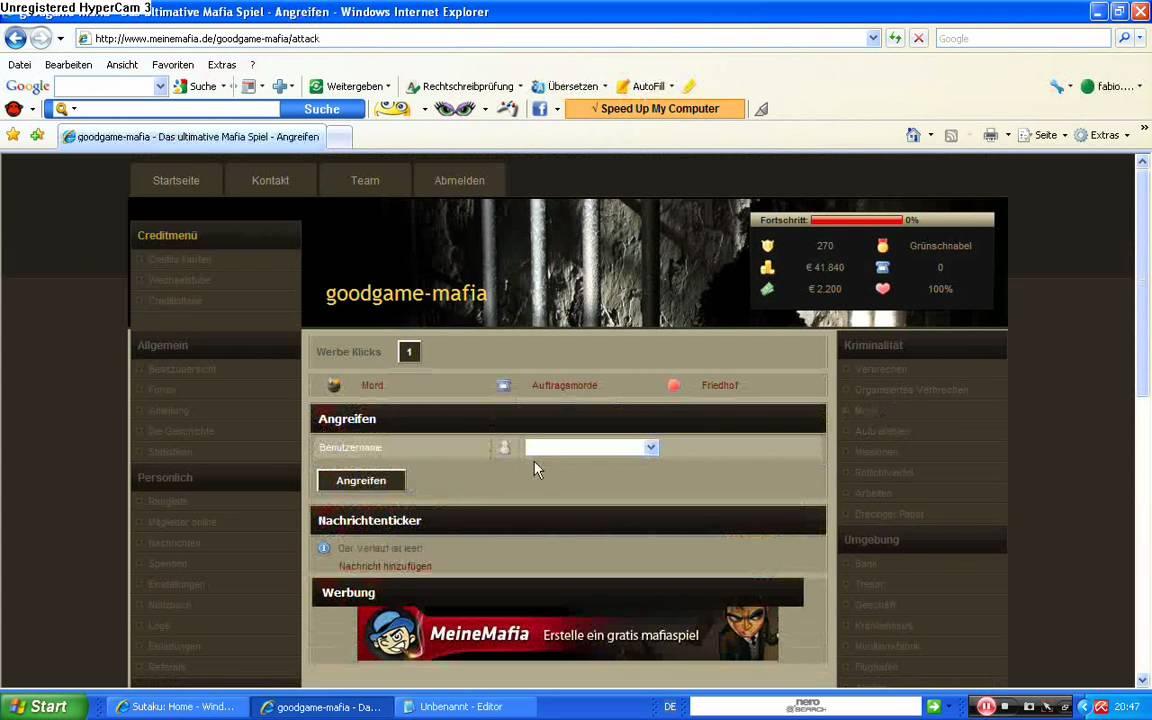 Mafia Browsergame