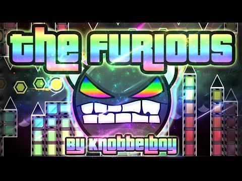 Geometry Dash - The Furious 100% GAMEPLAY Online (Knobbelboy) MEDIUM DEMON