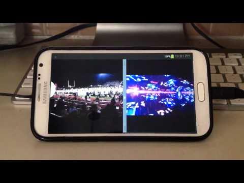 Samsung Galaxy Note 2 Multi View