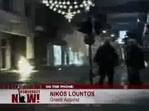 Uprisings in Greece. Police shoot activist teen-1/2