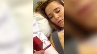 Hospital bed marriage proposal