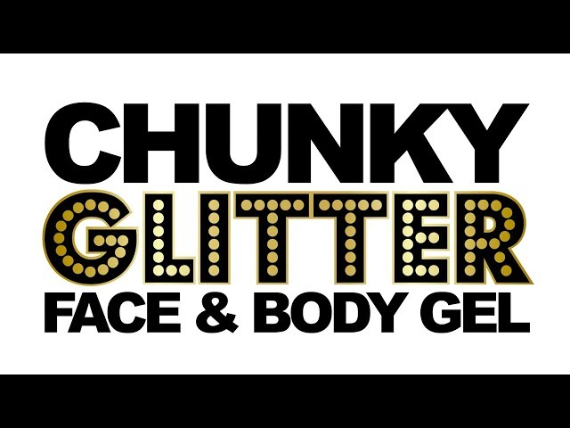 PaintGlow™ Chunky Glitter Body Gels.