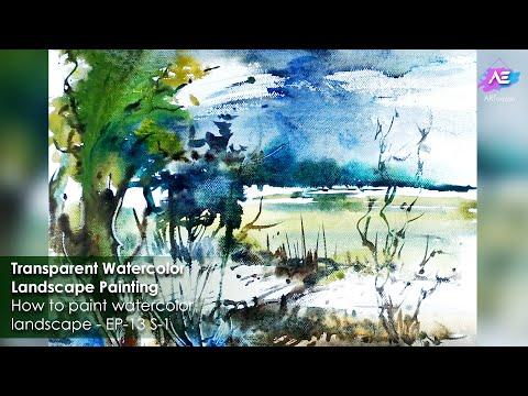 Transparent Watercolor Landscape Painting | Art Explain | EP 13 S 1
