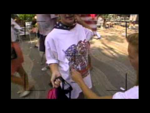 John Stockton being mobbed by fans during his time with the dream team in Barcelona
