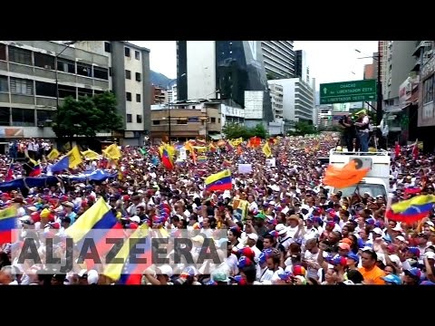 Opposition floods Caracas in giant anti-Maduro protest