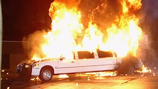 Mr. McMahon's stages his own demise in a limousine explosion thumbnail