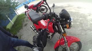Моё первое падение на мотоцикле.