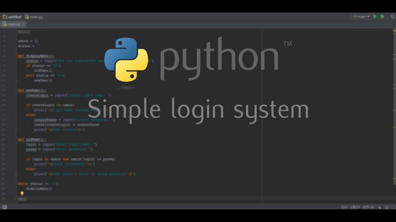 python registration system code
