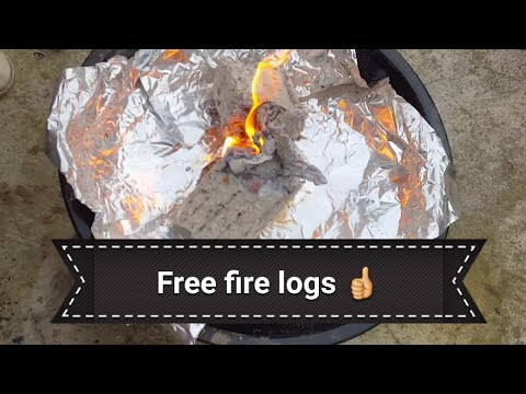 How to make a paper briquette, free fire logs!