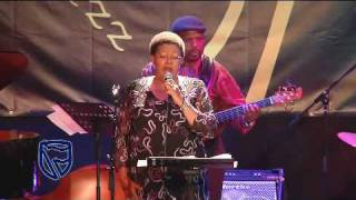 Sibongile Khumalo performs at the Standard Bank Jazz Festival in Grahamstown.