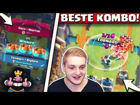 BESTE KOMBO IN CLAN BATTLE! | DOPPEL TORNADO + FLÄCHENSCHADEN! | Clash Royale Deutsch