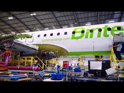 #Binter #Embraer #E195E2 gets its wings
