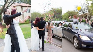 Guests Drive Past Couple's Wedding To Join In Celebration