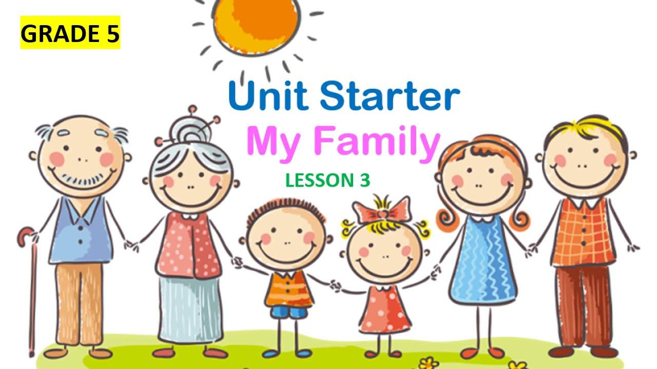 [Tiếng Anh lớp 5]_Family&Friends_STARTER_MY FAMILY_LESSON 3&4_Giọng phát âm chuẩn của người bản xứ.