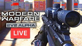 Modern Warfare Alpha Gameplay LIVE: ONE DAY EARLY! (Call of Duty MW)