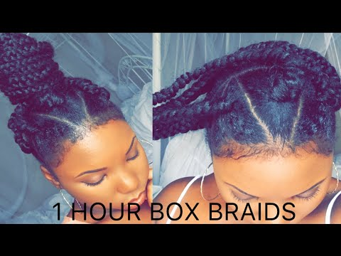 How To Jumbo Box Braids In 1 Hour Rubber Band Method